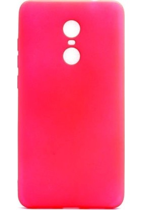 HappyShop Xiaomi Redmi 5 Kılıf Ultra İnce Mat Silikon + Cam Ekran Koruyucu - Pembe