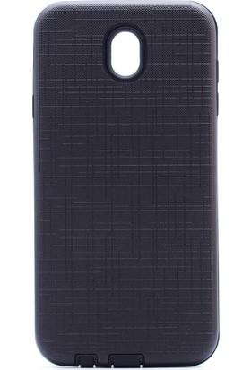 HappyShop Samsung Galaxy J3 Pro J330 Kılıf Ultra Korumalı New Youyou Silikon + Cam Ekran Koruyucu - Siyah