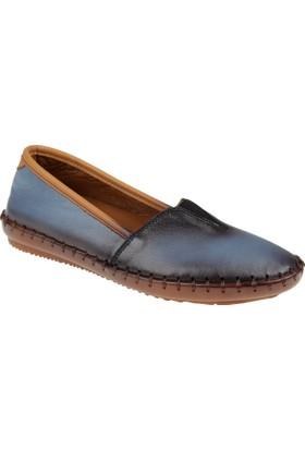 Beety Deri Kadın Ayakkabı - Bty 302 Mavi