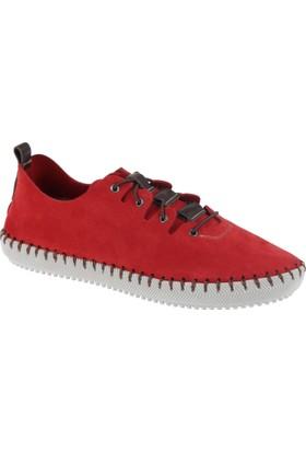 İloz Deri Kadın Ayakkabı - Snj 122101 Kırmızı