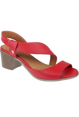 İloz Deri Kadın Sandalet - Snj 430002 Kırmızı