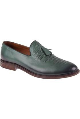Shalin Deri Erkek Ayakkabı - Dtc 206 Yeşil