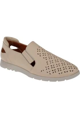 Shalin Deri Kadın Ayakkabı - Est 245 Bej
