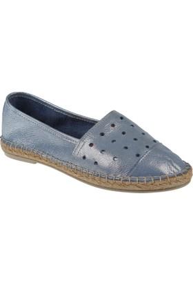 Shalin Deri Kadın Ayakkabı - Hnz 1154 Mavi