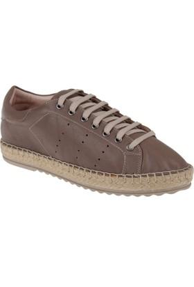 Shalin Deri Kadın Ayakkabı - Hnz 1166 Vizon