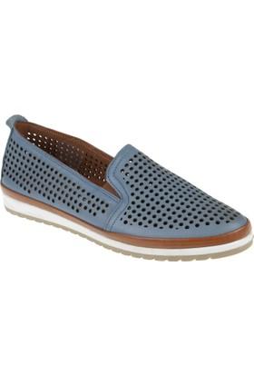 Shalin Deri Kadın Ayakkabı - Tn 8107 Mavi