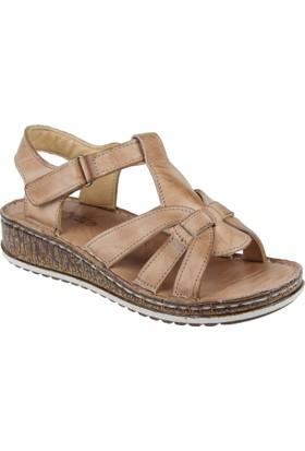 Shalin Deri Kadın Sandalet - Çyb 1370 Taba