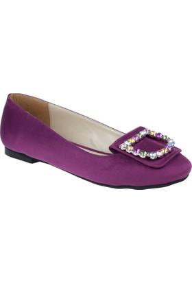 Shalin Kadın Ayakkabı - Ag 1010 Mor Süet