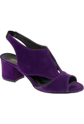 Shalin Kadın Sandalet - Bşk 363 Mor Süet