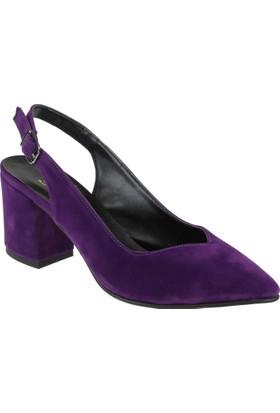 Shalin Kadın Ayakkabı - Bşk 9578 Mor Süet