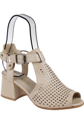 Shalin Kadın Sandalet - Msm 4013 Bej