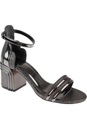 Shalin Kadın Sandalet - Cd 404 Platin