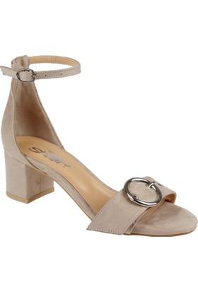 Shalin Kadın Sandalet - Mb 01 Vizon Süet
