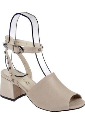 Shalin Kadın Sandalet - Msm 4008 Bej