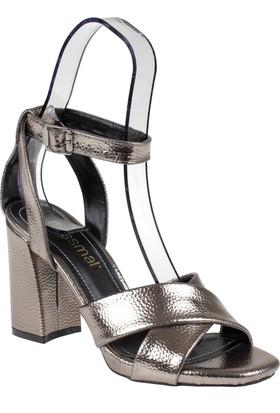 Shalin Kadın Sandalet - Msm 4019 Platin