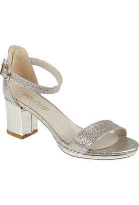 Shalin Kadın Sandalet - Msm 568 Altın