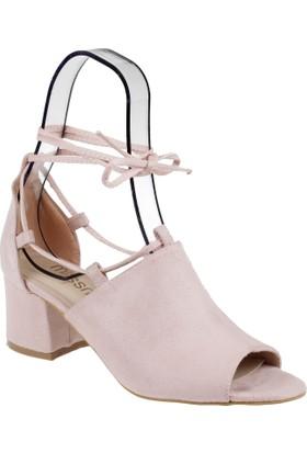 Shalin Kadın Sandalet - Msm 910 Pudra