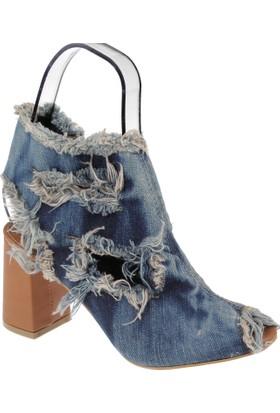 Shalin Kadın Sandalet - Szr Kot1 Lacivert