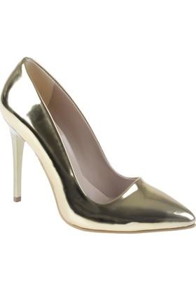 Shalin Stiletto Kadın Ayakkabı - Hsk 078 Dore Ayna