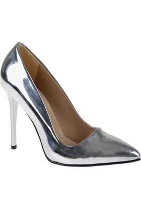 Shalin Stiletto Kadın Ayakkabı - Hsk 078 Gümüş Ayna