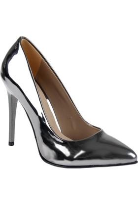Shalin Stiletto Kadın Ayakkabı - Hsk 078 Platin Ayna