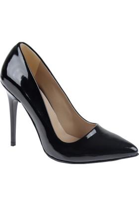 Shalin Stiletto Kadın Ayakkabı - Hsk 078 Siyah Rugan