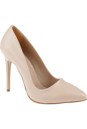 Shalin Stiletto Kadın Ayakkabı - Hsk 078 Ten Mat