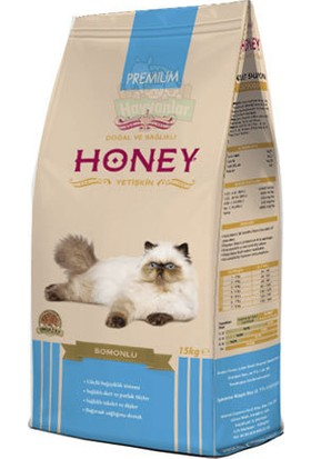 Honey Somonlu Yetişkin Kedi Maması 15 Kg