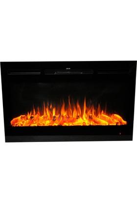 Ateşin Efendisi Elektrikli Şömine Boge Tek Renkli 128'lik Plazma