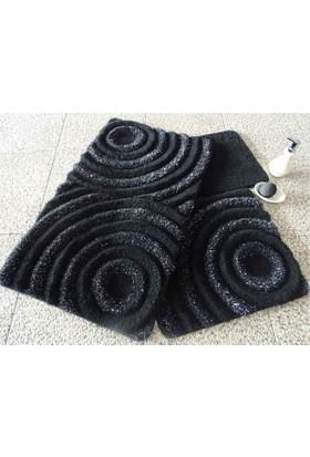 Chilai Home Wave Siyah 3'lü Banyo Takımı Seti