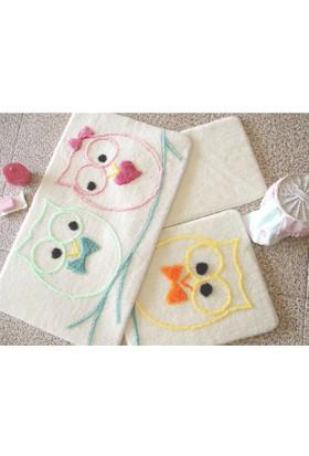 Chilai Home Baykuş Renkli 3'lü Banyo Takımı Seti