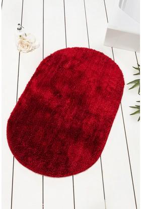 Chilai Home Colors Of Oval Kırmızı Banyo Halısı