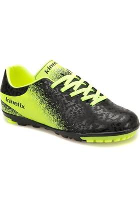 Kinetix Menez Turf Siyah Neon Sarı Gümüş Erkek Halı Saha Ayakkabısı