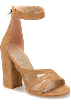 Butigo Elegan 14Z Camel Kadın Sandalet
