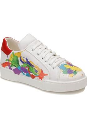 Butigo Leopar Z07Z89Z Bej Leopar Kadın Sneaker Ayakkabı