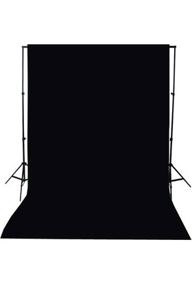 A+ KALİTE-black screen-siyah fon perde (3x4m) +FON STANDI