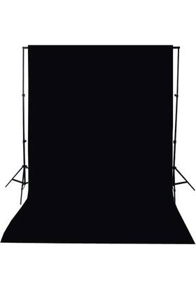 A+ KALİTE-black screen-siyah fon perde (2x3m) +FON STANDI