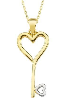 AltınSepeti Altın Kalbin Anahtarı Kolye AS1376KL