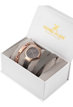Daniel Klein 8680161585596 Kadın Kol Saati Bileklik Takı Seti