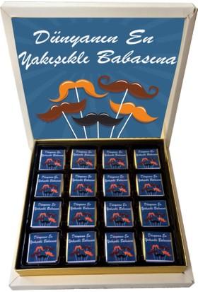 Gondol Çikolata Bıyıklı Babalar Günü Çikolatası