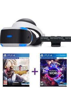 Sony Playstation Vr 2 Sanal Gerçeklik Gözlüğü + Vr Camera + Ps4 Vr Worlds + Vr Arizona