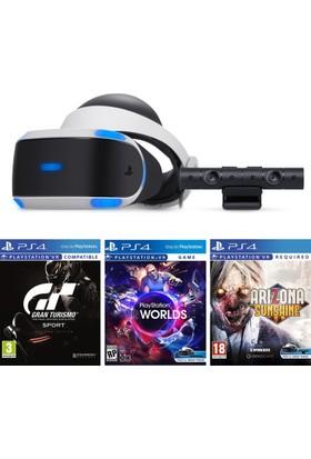 Sony Playstation Vr 2 Sanal Gerçeklik Gözlüğü + Vr Camera + Ps4 Vr Worlds + Vr Arizona + Vr Gran Turismo