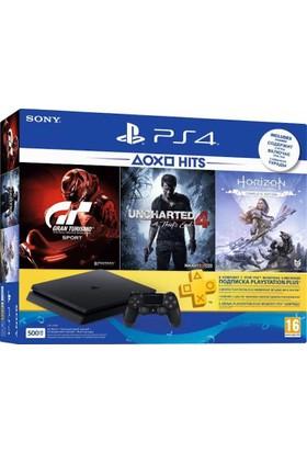 Sony Ps4 500Gb Konsol + Horizon Zero Dawn Complete Ed. + Gt Sport + Uncharted 4 + 3 Aylık Psn Plus