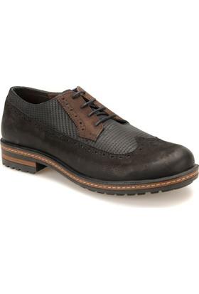 Kinetix A1305986 Siyah Erkek Deri Sneaker