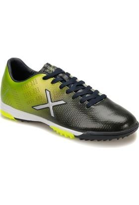 Kinetix Street Turf X Lacivert Neon Yesıl Erkek Halı Saha Ayakkabısı