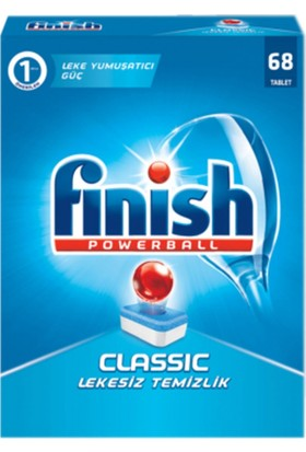 Finish Powerball Classic Bulaşık Makinesi Deterjanı 68 Tablet