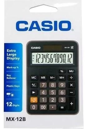 Casio Mx-12b-Bk 12 Hane Masaüstü Hesap Makinesi
