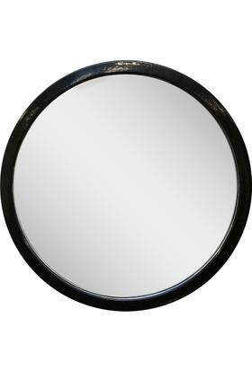 Altıncı Cadde Metal Siyah Ayna 49 Cm