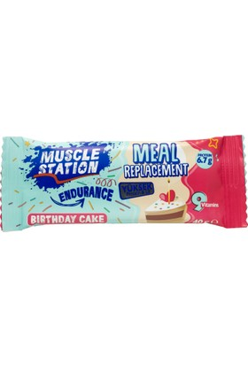 Muscle Station Meal Replacement Bar Birthday Cake