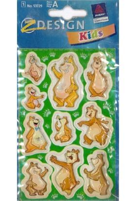 Avery Kids Kabartmalı Etiket 53729
